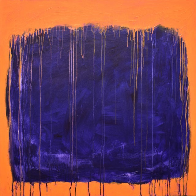 """Stephen Remick """"Tempest"""" Abstract Painting For Sale - Image 12 of 12"""