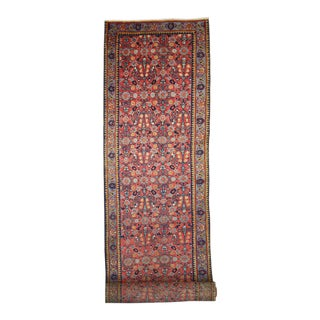 Antique Persian Tabriz Carpet Runner with Modern Traditional Style, Long Hallway Runner