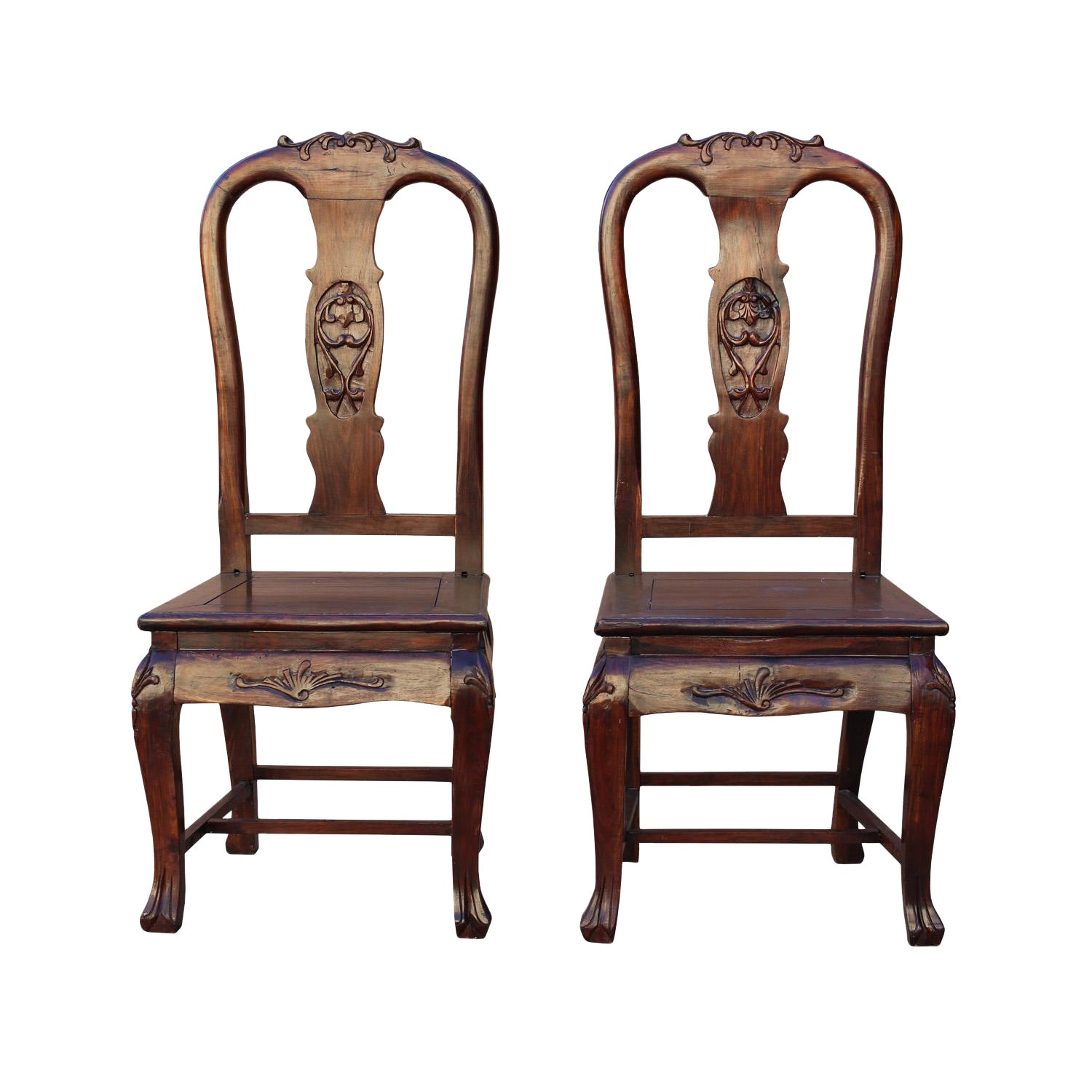 Pair handmade chinese old shanghai design solid red wood suanzhimu rosewood chair wk2601 chairish