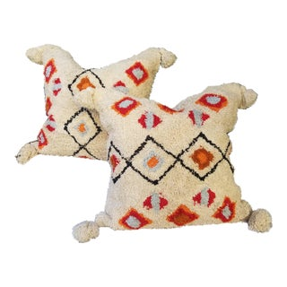 Cotton Moroccan Wedding Quilt Pillow - a Pair For Sale