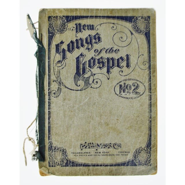 "An antique printing of '1905 New Songs of the Gospel No. 2' book. Approximate Dimensions: 8.5"" high x 6"" wide x .25"" deep..."