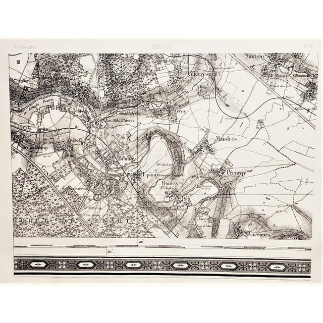 Early 19th Century Antique 1800s French Map Ile De France For Sale - Image 5 of 5