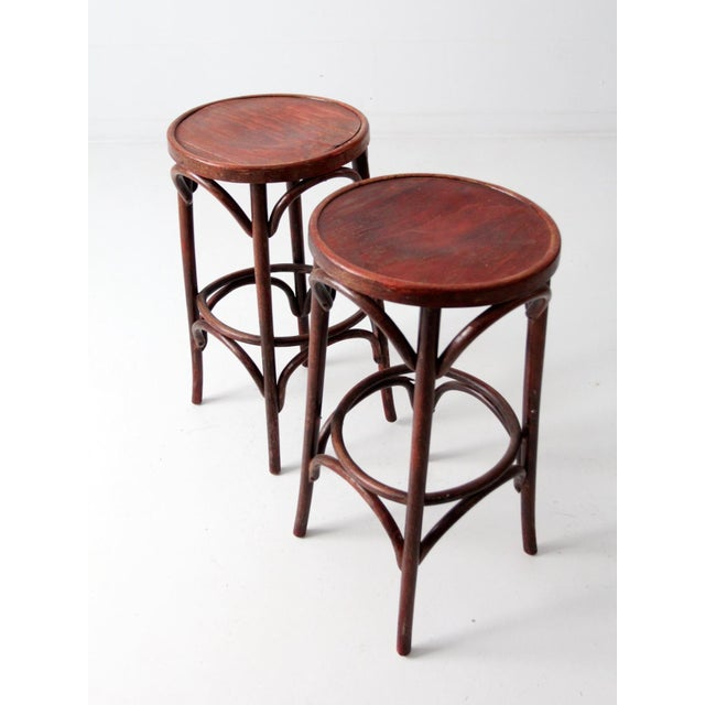 1950's Bentwood Cafe Stools - A Pair - Image 2 of 7