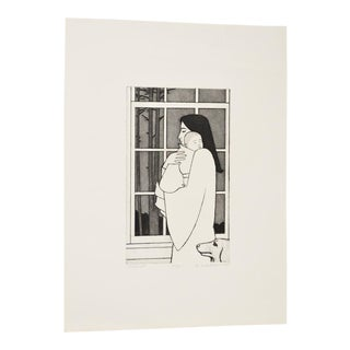 "Will Barnet (1911-2012) Limited Edition Etching W/ Aquatint ""Midnight"" C. 1985"