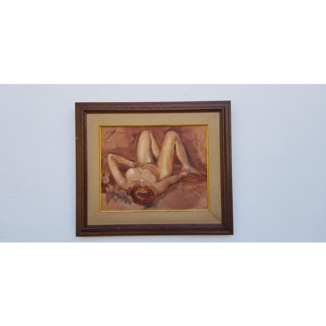 1970s Abstract Nude Female Figure Painting For Sale - Image 13 of 13