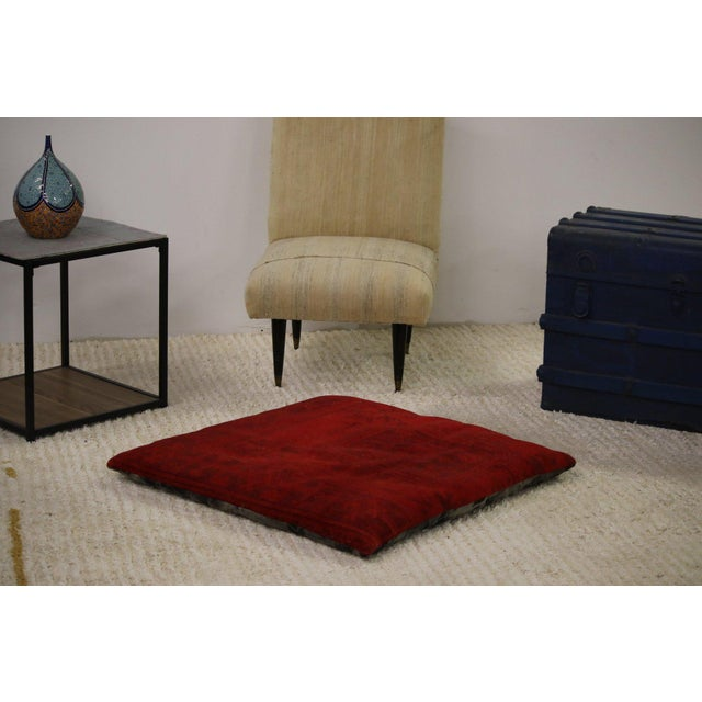 Luxury Rug Floor Pillow For Sale - Image 4 of 4