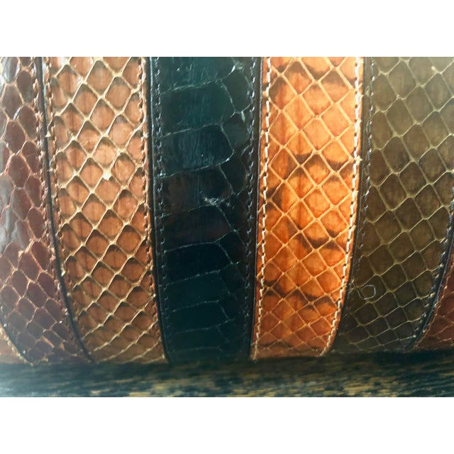 1980s 1980s Vintage Patrizia Multicolored Striped Python Clutch For Sale - Image 5 of 11