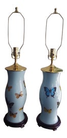 Image of Robin's Egg Blue Table Lamps