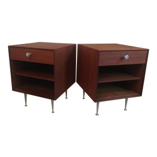 1950s Mid-Century Modern George Nelson for Herman Miller Thin Edge End Tables - a Pair For Sale