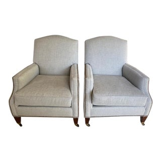 Tcs Designs Upholstered Club Chairs- a Pair For Sale