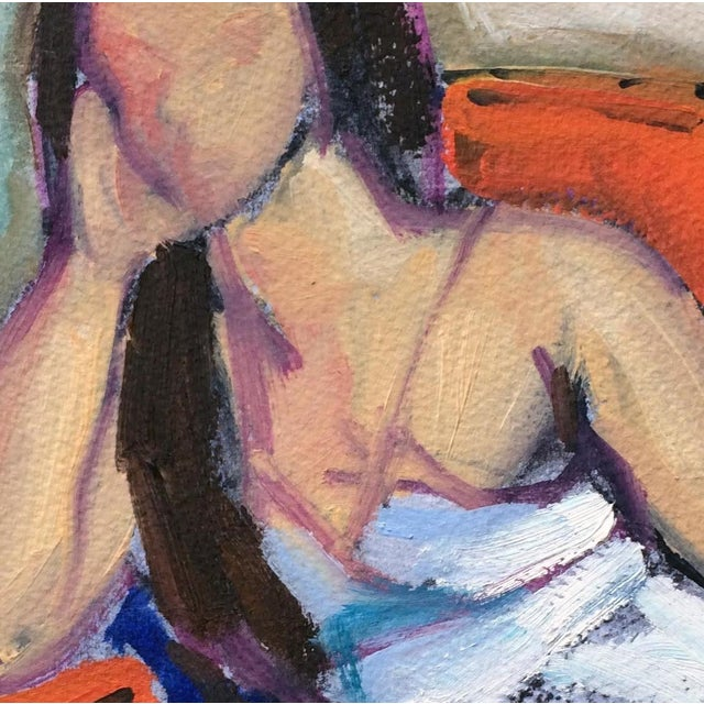 Woman in Orange Chair Sketch I by Heidi Lanino - Image 2 of 2