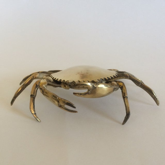 Coastal Living Brass Crab Ash Tray - Image 4 of 9