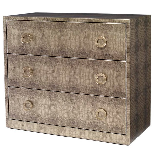 Kravet Camille Gray Textured Wrapped Chest - Image 1 of 2