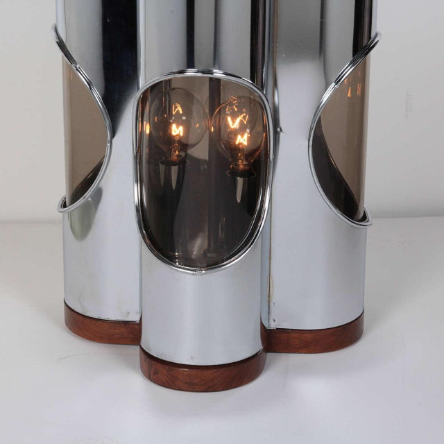 Laurel Lamp Company Pair of Sculptural Hollywood Regency Lamps by Laurel For Sale - Image 4 of 11