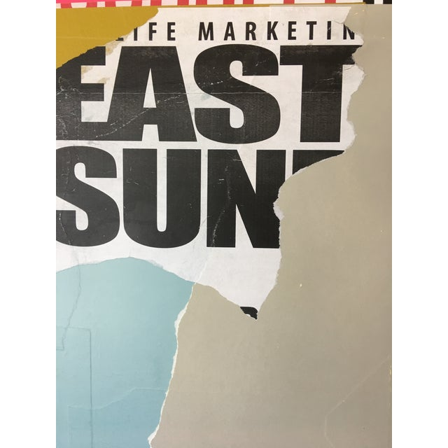 """2010s Contemporary Mixed Media Painting """"Eastside"""" by William Finlayson For Sale - Image 5 of 6"""