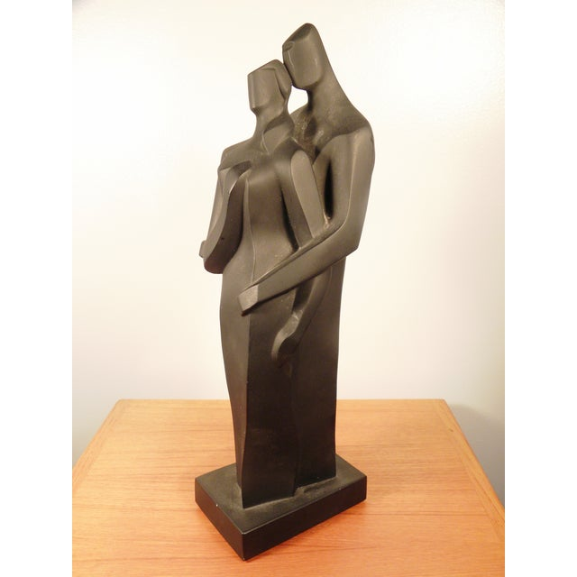 Modern Sculpture Embracing Man and Woman - Image 4 of 8