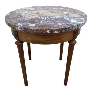 Louis XVI Marble Top Side Table For Sale