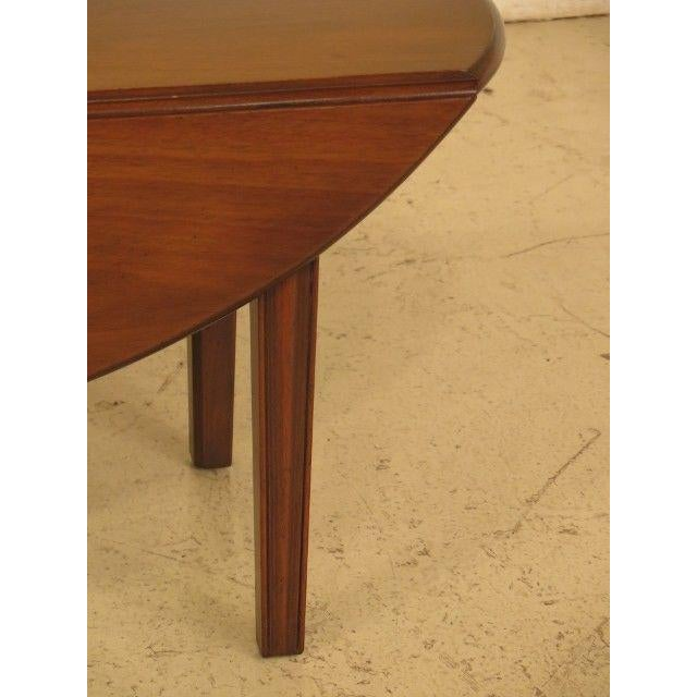 Traditional 1960s Traditional Kittinger Drop Leaf Mahogany Coffee Table For Sale - Image 3 of 12