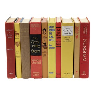Midcentury Autumn Leaves Book Bundle For Sale