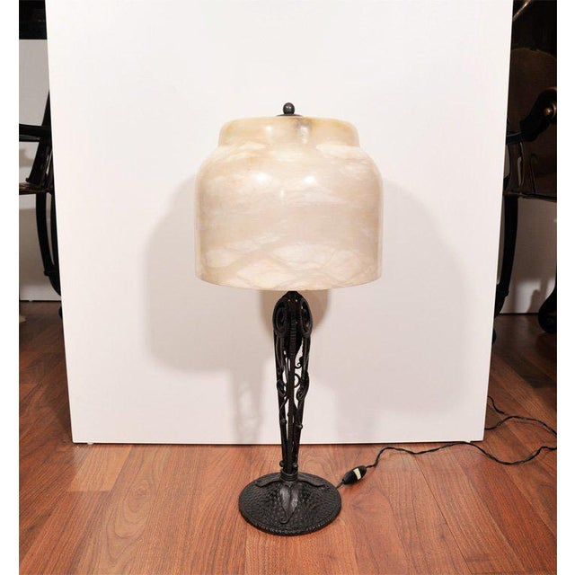 Art Deco Table Lamp by Edgar Brandt For Sale In New York - Image 6 of 6
