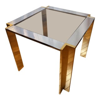 Romeo Rega Chrome and Brass Side Table For Sale