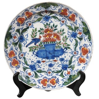 18th Century French Country Delft Charger