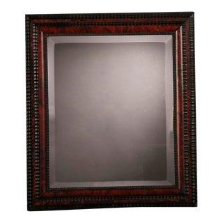19th Century Dutch Faux Tortoise & Ebonized Wood Framed Mirror For Sale