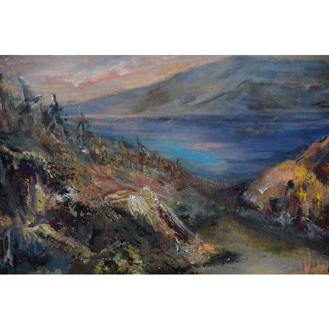 "Irina Roublon ""luminous Mountain Landscape"" Oil Painting C.1960s For Sale In San Francisco - Image 6 of 8"