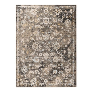 Peyton Claire Traditional Oriental Taupe Rectangle Area Rug - 5' x 8' For Sale