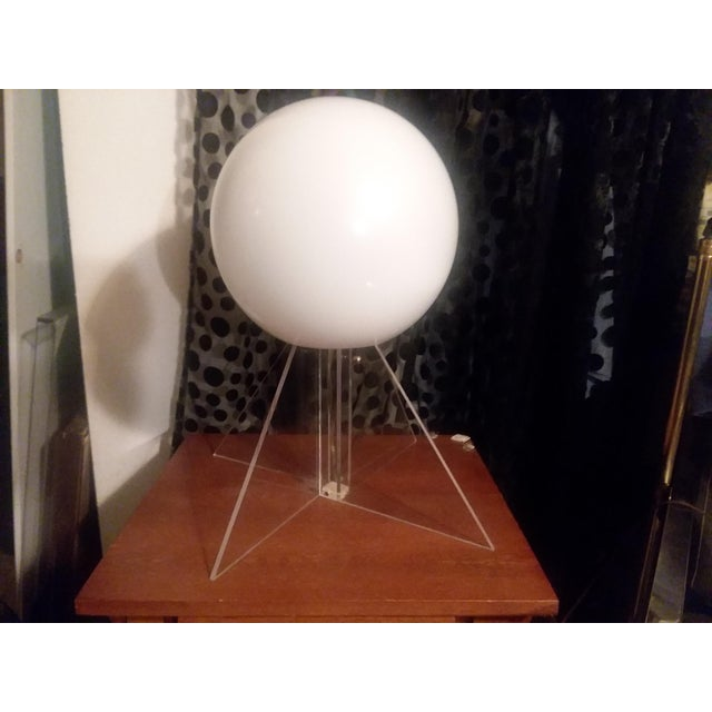 Mid Century Plexi Globe Table/Floor Lamp For Sale - Image 10 of 10