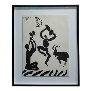 Pablo Picasso - Dancer & Goat - 1959 Lithograph -Pencil Signed For Sale