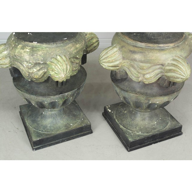 Pair of French Zinc Architectural Finials For Sale - Image 10 of 11