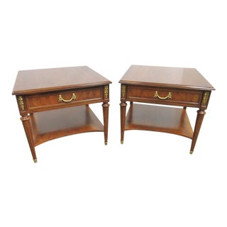 Louis XVI Henredon One Drawer Stands - a Pair For Sale