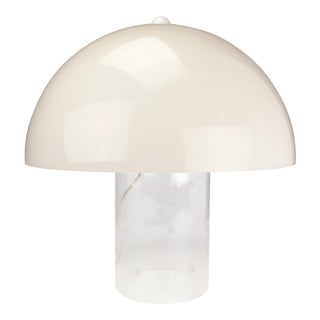 1970s Lucite Dome Table Lamp For Sale
