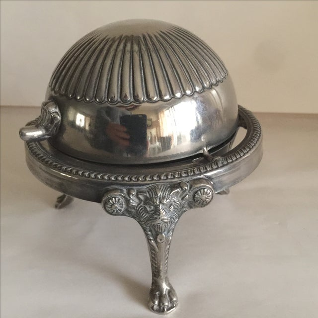 Mid-Century Silver Domed Tray - Image 3 of 8