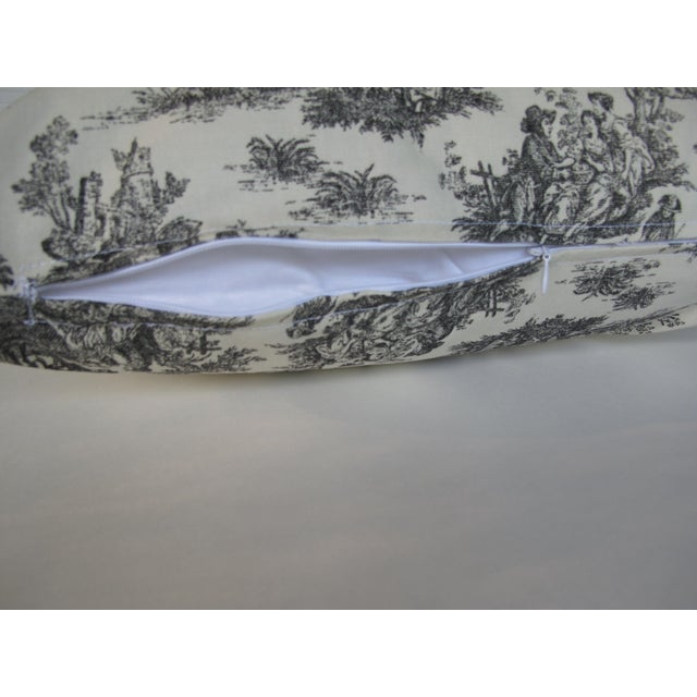 Handmade Classic Black Toile Pillow - 18 X 18 Pillow - Image 3 of 5