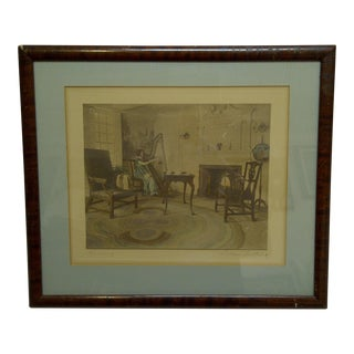 """Vintage """"Harmony"""" Framed and Matted Signed Print by Wallace Nutting For Sale"""