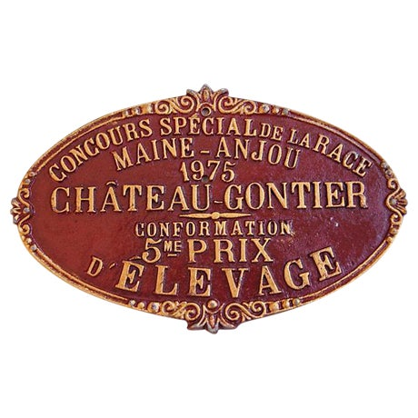 Vintage French 1975 Chateau-Gontier Award Plaque - Image 1 of 3