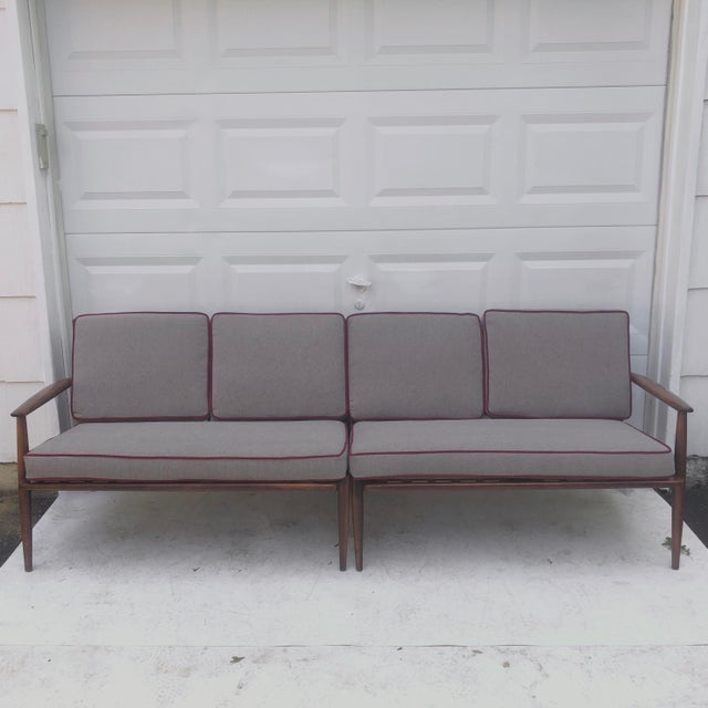 Baumritter Mid-Century Modern Two Piece Sofa by Baumritter For Sale - Image 4 of 13