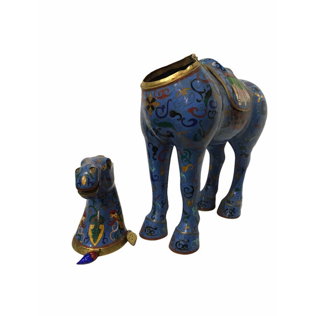 Vintage Chinese Cloisonné Horse Statue For Sale - Image 12 of 13