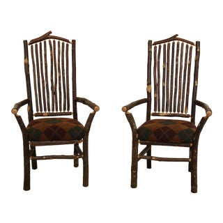 Pair Adirondack Open Armchairs For Sale