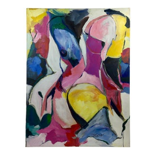 Deon Robertson Abstract Nude Oil on Canvas For Sale