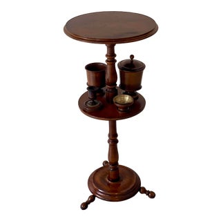 Antique Pipe and Smoking Stand For Sale