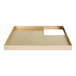 Contemporary 002 Tray in Brass by Orphan Work, 2018