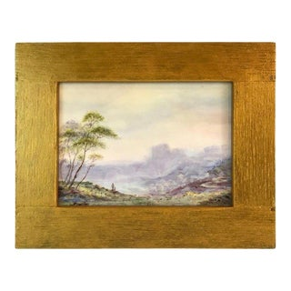 Royal Worcester Scenic Plaque by Richard Lewis For Sale