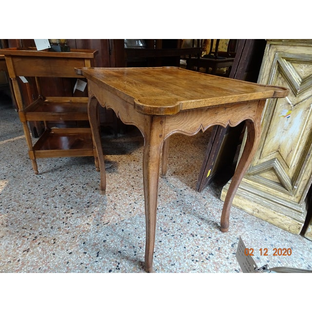 Mid 19th Century French Oak Side Table For Sale - Image 10 of 11