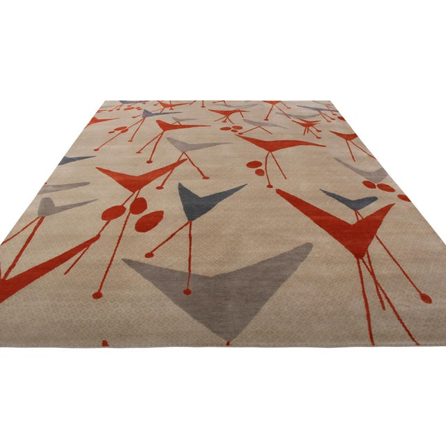 Crafted with hand-knotted wool, natural silk and exotic yarns, Rug & Kilim's geometric rug hails from the latest prized...