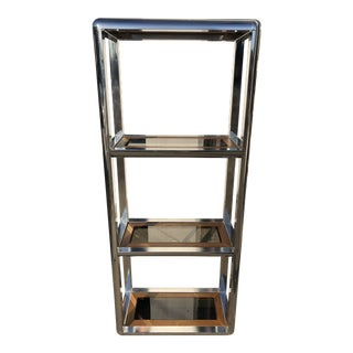 1970s Mid-Century Chrome Etagère For Sale