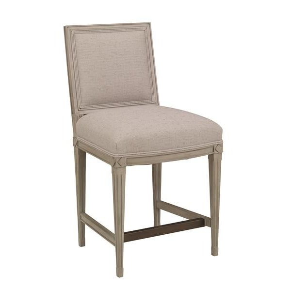 Traditional Chaddock - Delphine Counter Stool - Gray For Sale - Image 3 of 5
