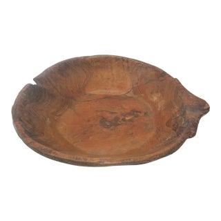 Burlwood Carved Bowl